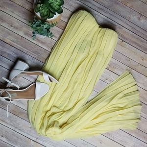 NWT - Missguided - Pleated Strapless Maxi Dress